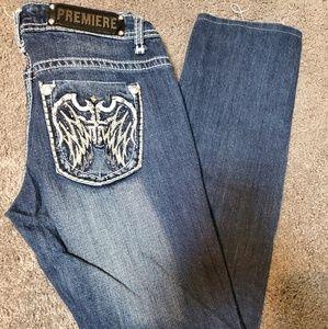 Rue21 Premiere Denim Angel Wings Jeans